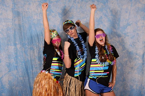 Hawaiian Themed Photo Booth